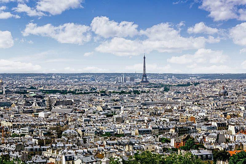 Вид на Париж Монмартр