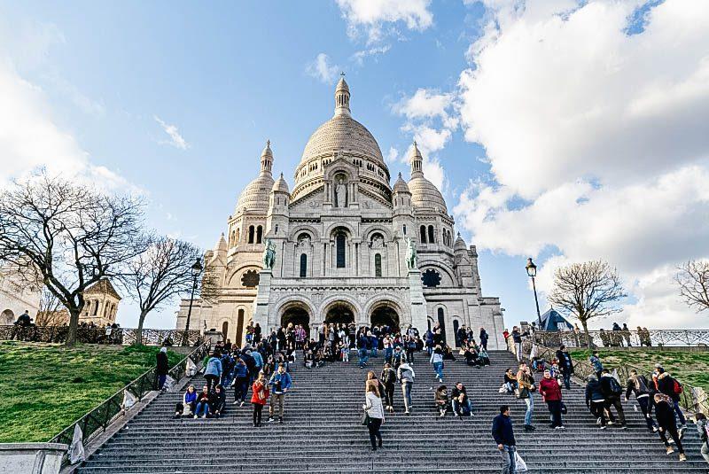 Базилика Монмартр в Париже